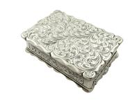 Antique Victorian Sterling Silver Snuff Box 1852 (8 of 11)