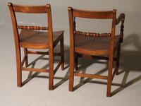 Good & Original Set of Six '4+2' Mid 19th Century Walnut & Oak Chairs (5 of 6)
