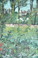 Early 20th Century British School A Town Garden Oil on Board (9 of 9)