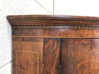 Antique Oak Bow Front Corner Cupboard (6 of 8)