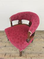 Pair of Victorian Mahogany Upholstered Tub Chairs (8 of 15)