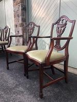 Antique Set of 8 Mahogany Dining Chairs (10 of 10)