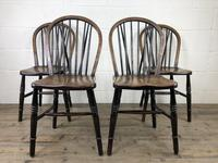 Set of Four 19th Century Ash and Elm Hoop Back Chairs (2 of 13)