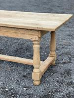 Large Bleached Oak Farmhouse Dining Table with Extensions & Storage (20 of 35)