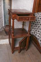 Impressive and beautiful large king size carved walnut bed & matching bedsides (11 of 13)