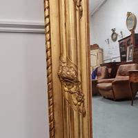 Antique French Gilded Flower Mirror (4 of 8)