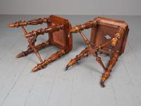 Antique Pair of Red Walnut Stools (11 of 11)