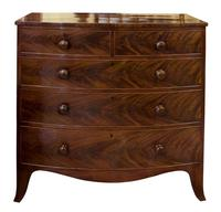 Early 19th Century Flame Mahogany Bow Chest (3 of 7)