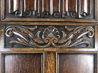 Early 20th Century Antique Oak Linenfold Hall Cupboard (5 of 13)