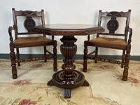 Antique Breton Side Table with Rush Seats (2 of 15)