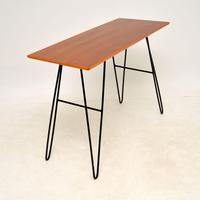 1960's Vintage Mahogany Hairpin Side / Console Table (4 of 7)