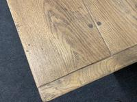 Bleached Oak Farmhouse Refectory Dining Table (4 of 22)