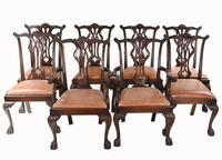 Set of Chippendale Dining Chairs Mahogany Antique 1890 Ball Claw (2 of 9)