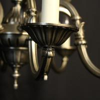 French Silver Gilded 12 Light Chandelier (3 of 10)