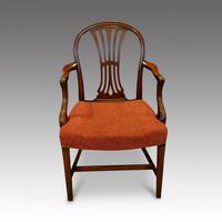 Set of 8 Edwardian mahogany Hepplewhite dining chairs (4 of 12)