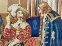 """Large Artwork Gilt Gesso Framed 19th Century Tapestry French Royal Court """"Playing Chess"""" (11 of 44)"""