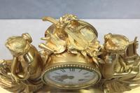 French Napoleon III Bronze Gilt Mantel Clock by Miroy Freres (8 of 13)