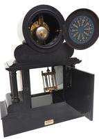 Fine Antique French Slate & Marble Regulator Mantel Clock 8 Day Striking Mantle Clock with Visible Jewelled Escapement (12 of 12)