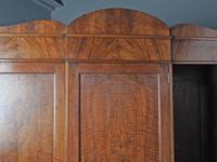 Figured Walnut 3 Door Wardrobe by Whytock and Reid (6 of 14)