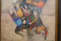 """Original Framed 1970s Print """"Ballon Players"""" by Graciela Rodo Boulanger (4 of 7)"""