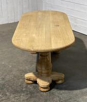 French Bleached Oak Monastery Dining Table (13 of 30)