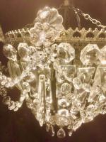 Small One Light French Bag Chandelier (2 of 5)