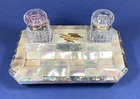 Victorian Mother of Pearl & Abalone Inkstand (2 of 15)