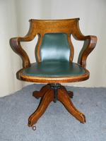 Oak Desk Chair - Adjustable (2 of 7)