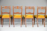 6 Victorian Walnut Dining Chairs (7 of 10)
