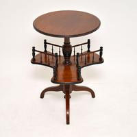 Antique Victorian Mahogany Occasional Table Bookstand (3 of 7)