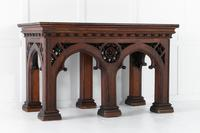 19th Century Victorian Gothic Pine Console Table (5 of 9)