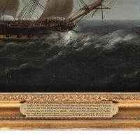 Carved & painted model of HMS Emerald, 1811 and 'HMS Emerald & HMS Amethyst' by Pocock (13 of 17)