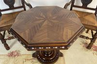 Antique Breton Side Table with Rush Seats (4 of 15)