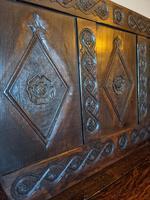 Victorian Carved Oak Settle (2 of 6)