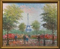 Lovely Pair of Original 20th Century French Parisian Gouache Cityscape Paintings (10 of 19)