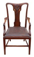 Set of 8 Inlaid Mahogany Dining Chairs Art Nouveau c.1910 (4 of 10)