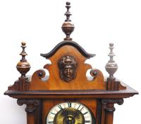 Fantastic Rare Victorian 8-day Wall Clock – Small Antique Striking Vienna Wall Clock (7 of 17)