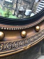 Antique Gilt Framed Convex Wall Mirror (2 of 5)