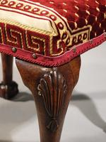 A Very Fine Quality, 18th Century Style, Silk Covered Stool (3 of 5)