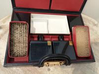 Gents Art Deco Leather Suitcase & Dressing Case (4 of 13)