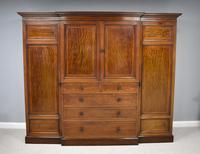 19th Century Mahogany Breakfront Wardrobe