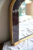 Antique Red Glass Overmantle Mirror (8 of 12)