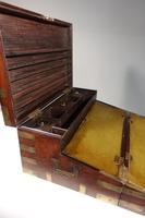 Late 19th Century Highly Figured Mahogany & Brass Writing Slope (3 of 8)