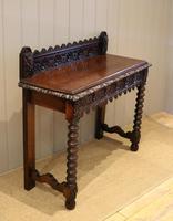 Carved Dark Oak Hall Table (4 of 9)