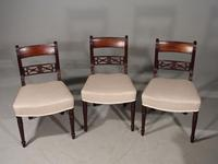 Attractive Set of 3 Regency Period Mahogany Framed Chairs