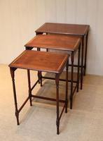Mahogany Nest of Three Tables (3 of 11)