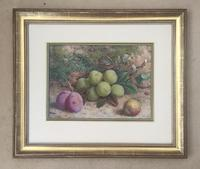 William Hough Watercolour Still Life of Plums & Greengages (2 of 2)