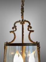 Antique French Large Gilt Bronze Circular Lantern (7 of 7)