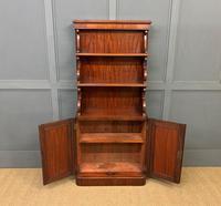 Charming Victorian Mahogany Waterfall Bookcase (4 of 12)