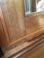 Antique Mahogany Wardrobe with Mirror Door (8 of 10)